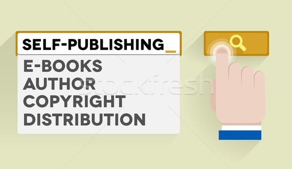 search self-publishing Stock photo © unkreatives