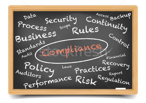 Blackboard Compliance Stock photo © unkreatives