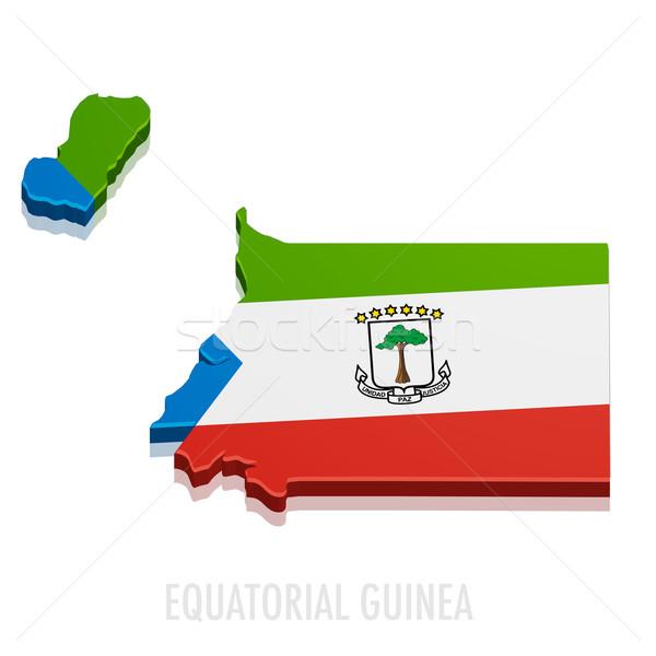 Map Equatorial Guinea Stock photo © unkreatives