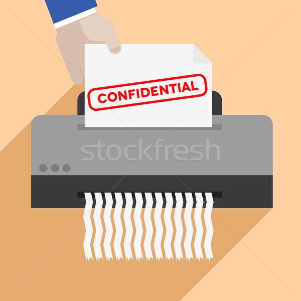 shredding confidential letter Stock photo © unkreatives