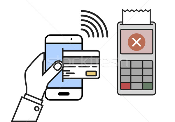 Mobile Payment declined Stock photo © unkreatives