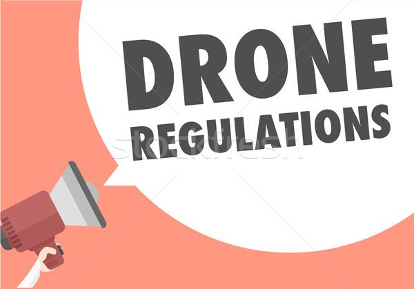 Luidspreker illustratie megafoon tekst tekstballon Stockfoto © unkreatives