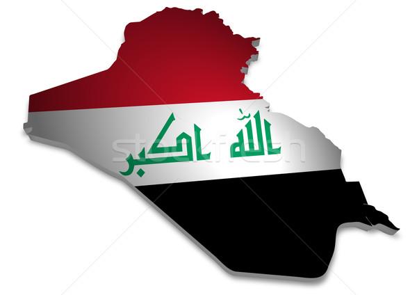 Iraque 3D bandeira abstrato projeto Foto stock © unkreatives