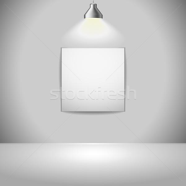 Tentoonstelling frame illustratie licht bron boven Stockfoto © unkreatives