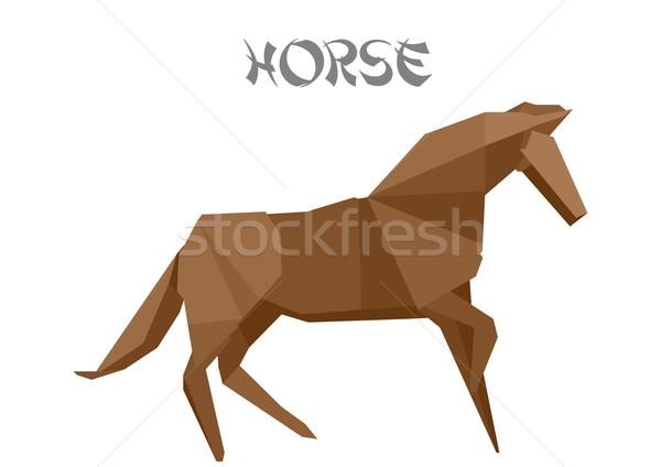 origami horse Stock photo © unkreatives