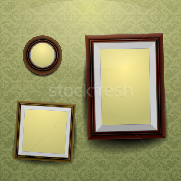 Frames on a wall Stock photo © unkreatives