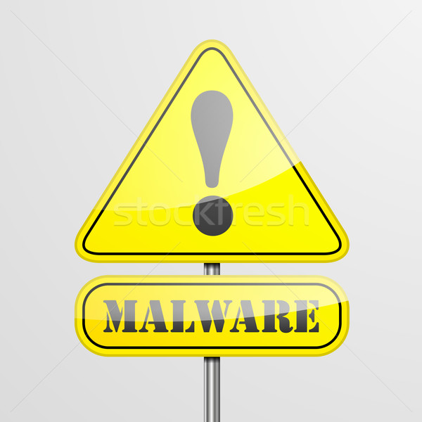 RoadSign Malware Stock photo © unkreatives