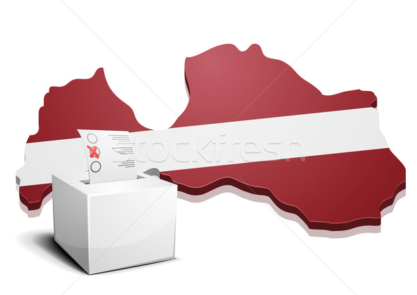 ballotbox Latvia Stock photo © unkreatives