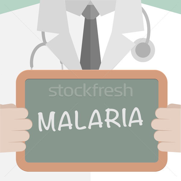 Foto d'archivio: Malaria · illustrazione · medico · lavagna
