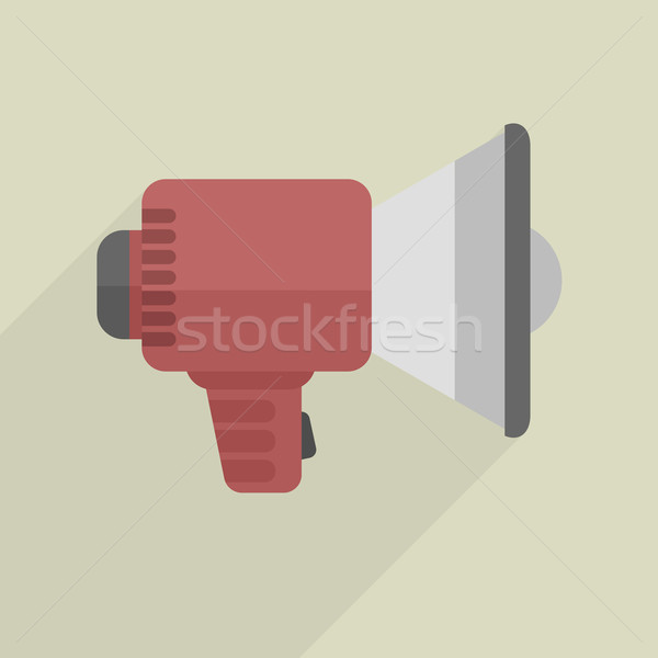 minimalistic Loudspeaker icon Stock photo © unkreatives