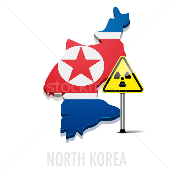 North Korea with radiation Radiation Stock photo © unkreatives