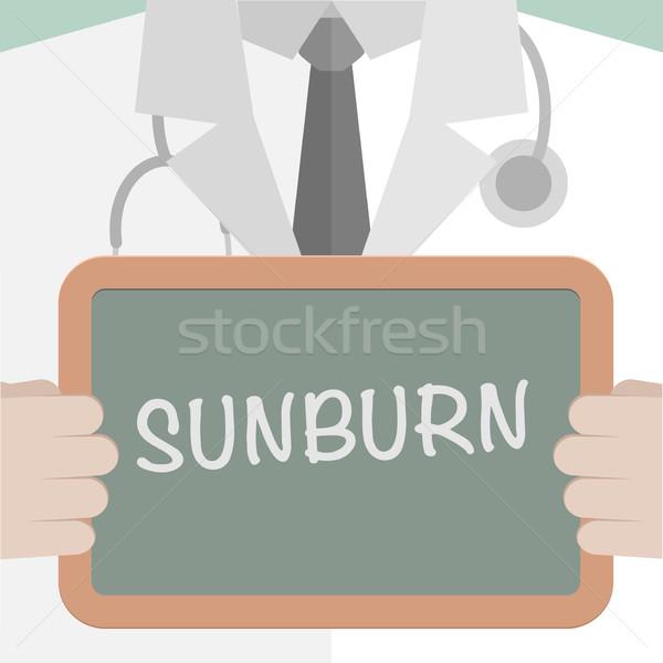 Tıbbi tahta güneş yanığı minimalist örnek doktor Stok fotoğraf © unkreatives
