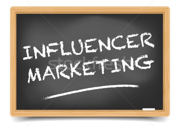 Blackboard Influencer Marketing Stock photo © unkreatives