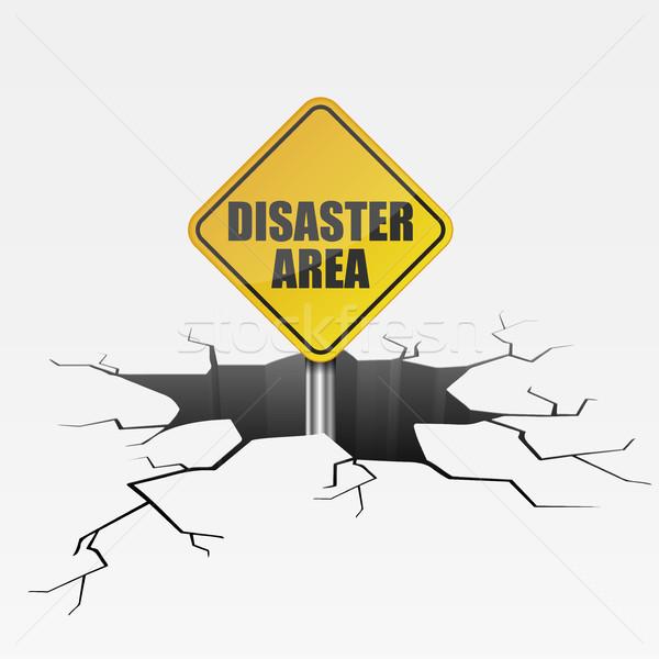 глубокий трещина катастрофа подробный иллюстрация треснувший Сток-фото © unkreatives