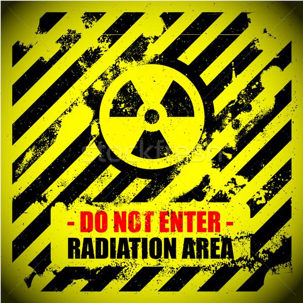 Radyasyon uyarı ayrıntılı örnek Stok fotoğraf © unkreatives