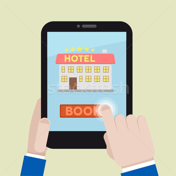 book hotel room Stock photo © unkreatives