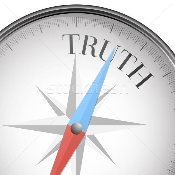 Brújula verdad detallado ilustración texto eps10 Foto stock © unkreatives