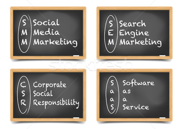 Blackboard Marketing Terms Stock photo © unkreatives