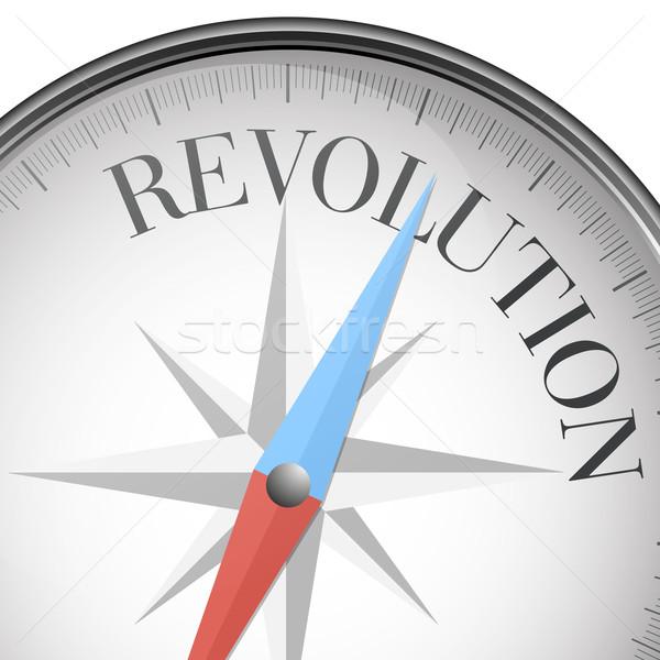 Bússola revolução detalhado ilustração texto eps10 Foto stock © unkreatives