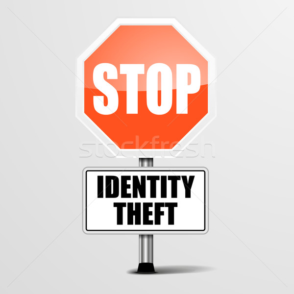 Stop Identity Theft Stock photo © unkreatives