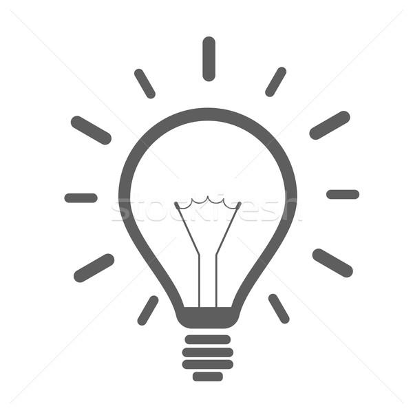 simple lightbulb icon Stock photo © unkreatives