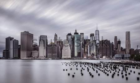 劇的な 空 マンハッタン スカイライン 風景 ストックフォト © unkreatives