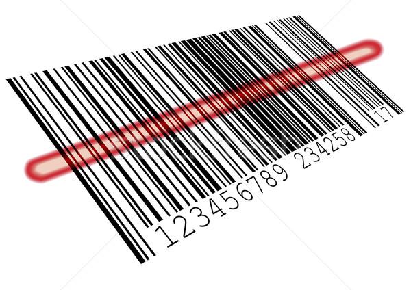 Código de barras ilustração vermelho bar eps8 vetor Foto stock © unkreatives
