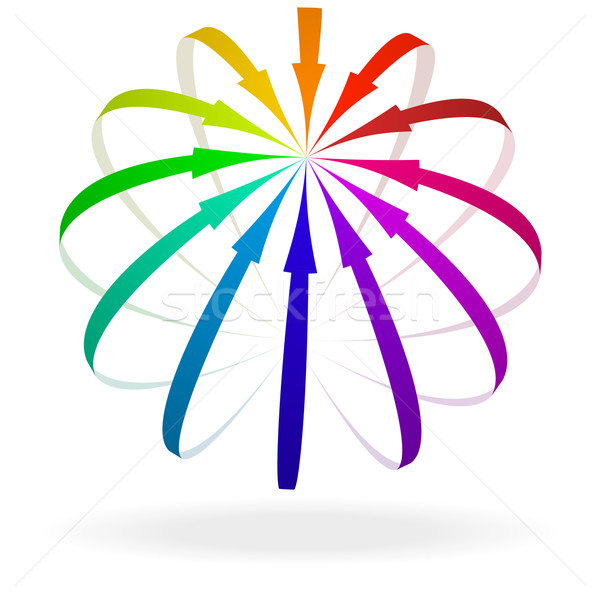 Farbenreich arrow Symbol Illustration Pfeile Hinweis Stock foto © unkreatives