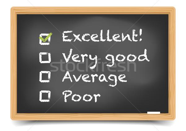 Lavagna soddisfazione sondaggio dettagliato illustrazione Foto d'archivio © unkreatives