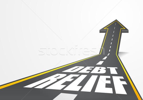 Deuda alivio detallado ilustración carretera carretera Foto stock © unkreatives