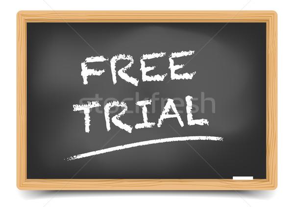 Blackboard Free Trial Stock photo © unkreatives
