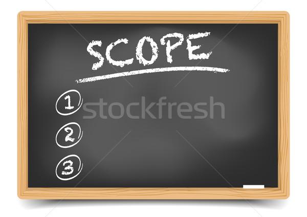 Blackboard List Scope Stock photo © unkreatives