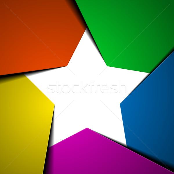 Star détaillée illustration modèle Photo stock © unkreatives