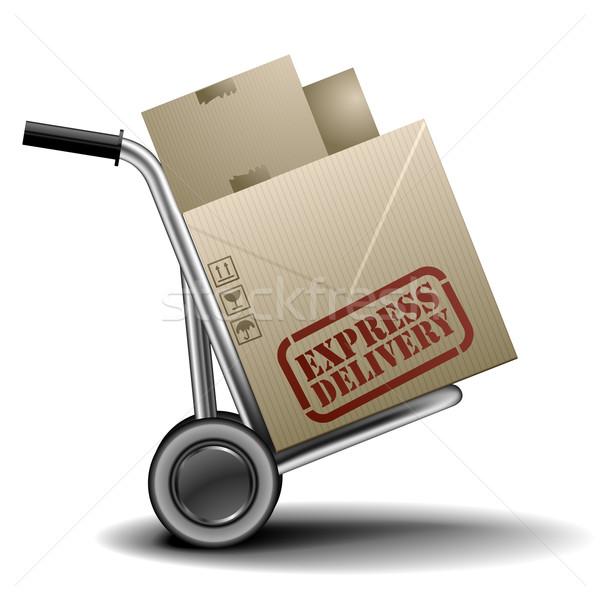 Expressz részletes illusztráció expressz szállítás címke eps Stock fotó © unkreatives