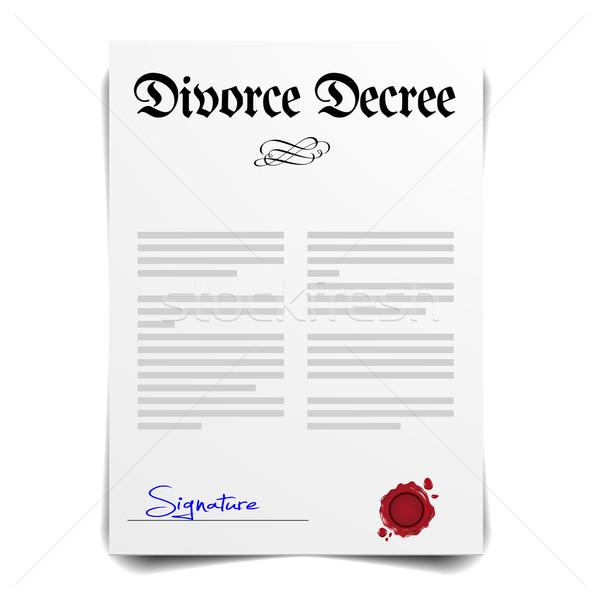 Rozwód szczegółowy ilustracja list eps10 wektora Zdjęcia stock © unkreatives