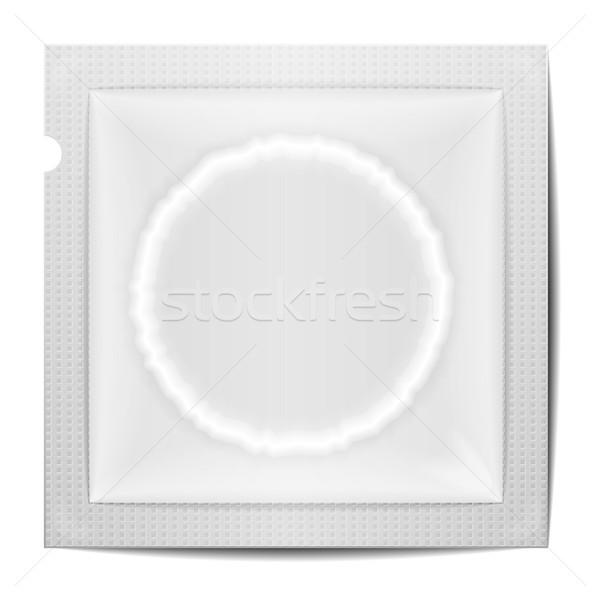 Condoom sjabloon gedetailleerd illustratie eps10 Stockfoto © unkreatives