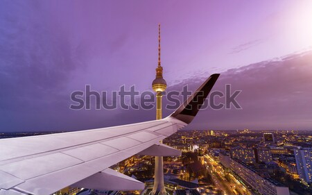 Multicopter flying over Berlin Cityscape Stock photo © unkreatives