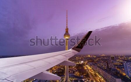 Repülés Berlin városkép Németország város technológia Stock fotó © unkreatives