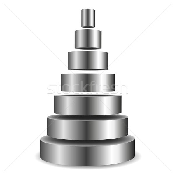 Métallique cylindre pyramide illustration fond Photo stock © unkreatives