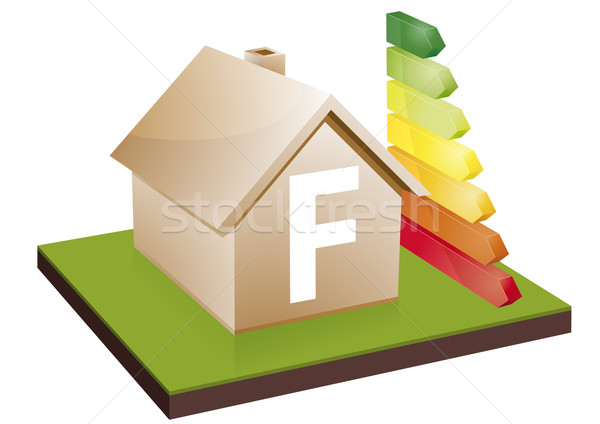house energy efficiency class F Stock photo © unkreatives