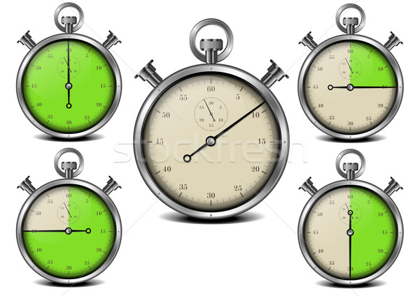 секундомер иллюстрация металл время часы дизайна Сток-фото © unkreatives