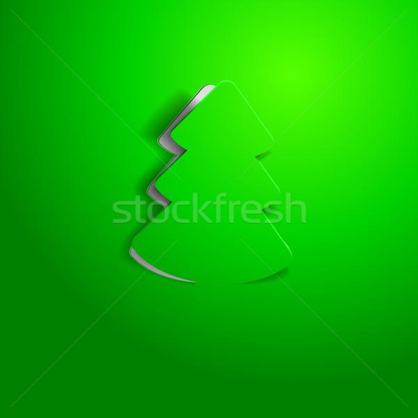 Modernes arbre de noël détaillée illustration style moderne eps Photo stock © unkreatives