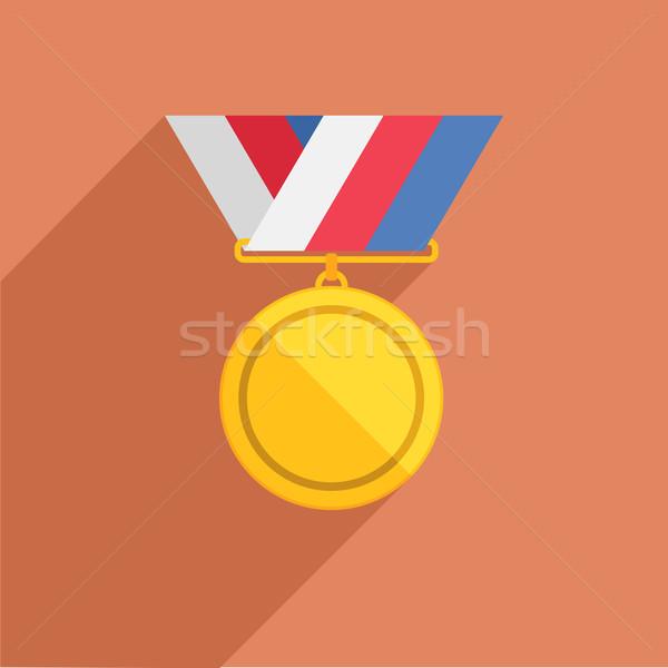 Madalya ayrıntılı örnek Retro stil şerit Stok fotoğraf © unkreatives