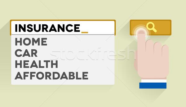Recherche assurance illustration bar eps10 Photo stock © unkreatives