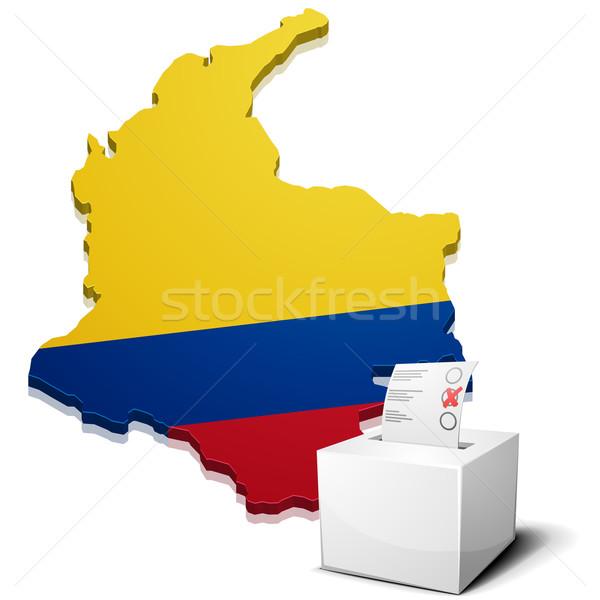 Колумбия подробный иллюстрация карта eps10 вектора Сток-фото © unkreatives