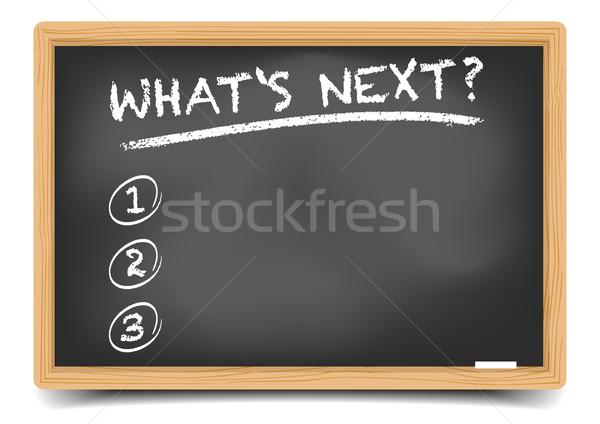 List WhatsNext Stock photo © unkreatives