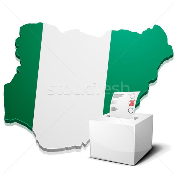 Nigéria detalhado ilustração mapa eps10 vetor Foto stock © unkreatives