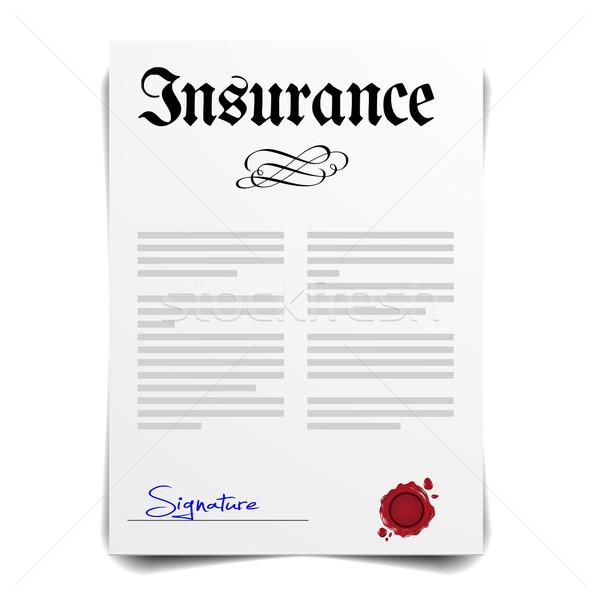 страхования письме подробный иллюстрация eps10 вектора Сток-фото © unkreatives