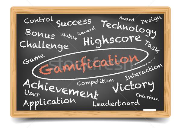 Gamification Wordcloud Blackboard Stock photo © unkreatives