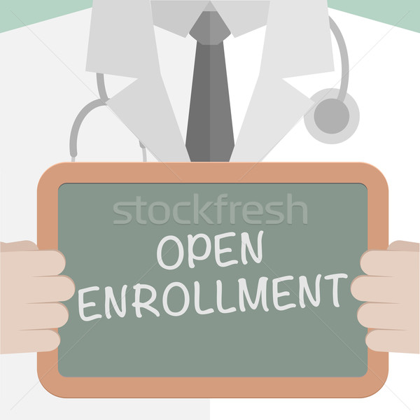 Medical Board Open Enrollment Stock photo © unkreatives